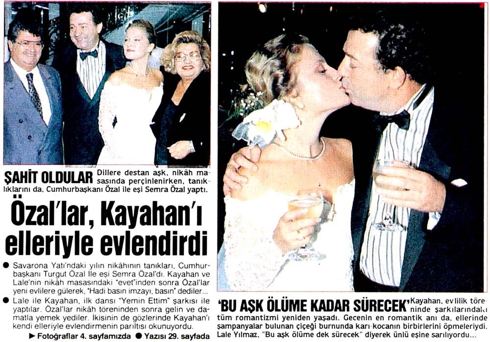 Özal, Kayahan'ı evlendirdi