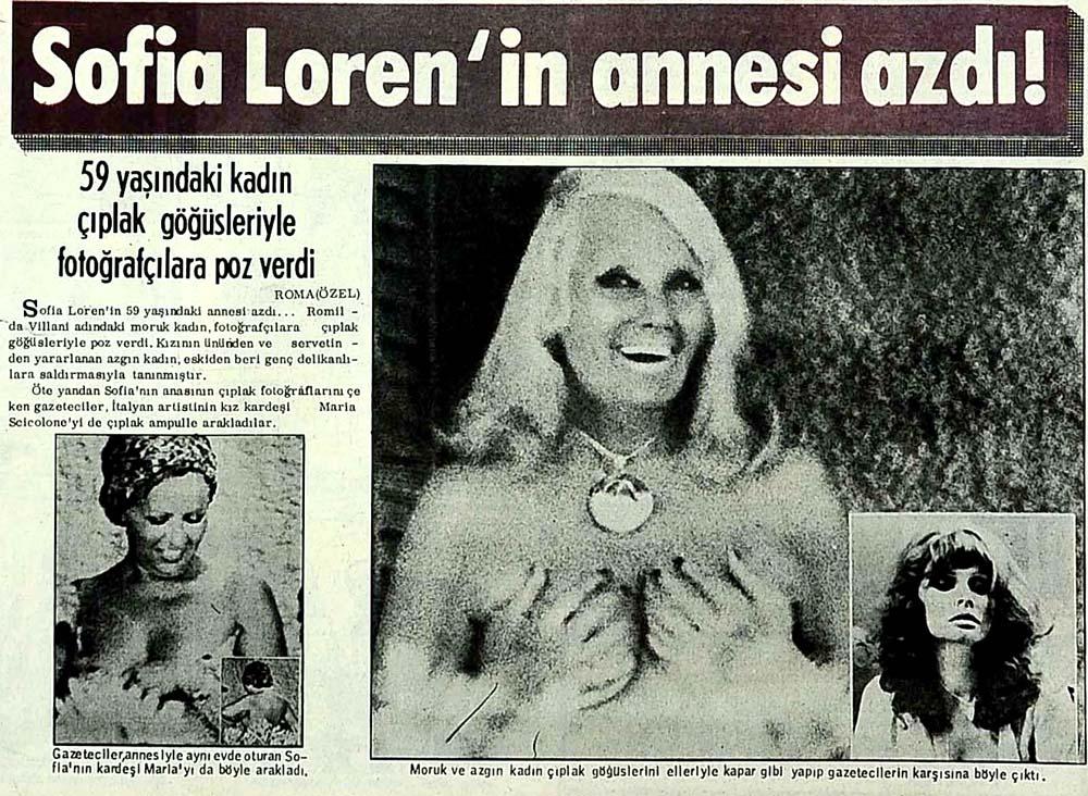 Sofia Loren'in annesi azdı!