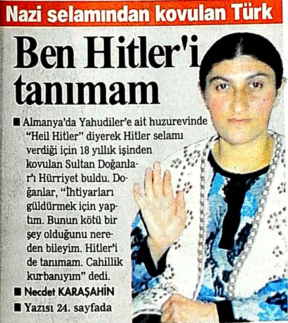 Nazi selamından kovulan Türk