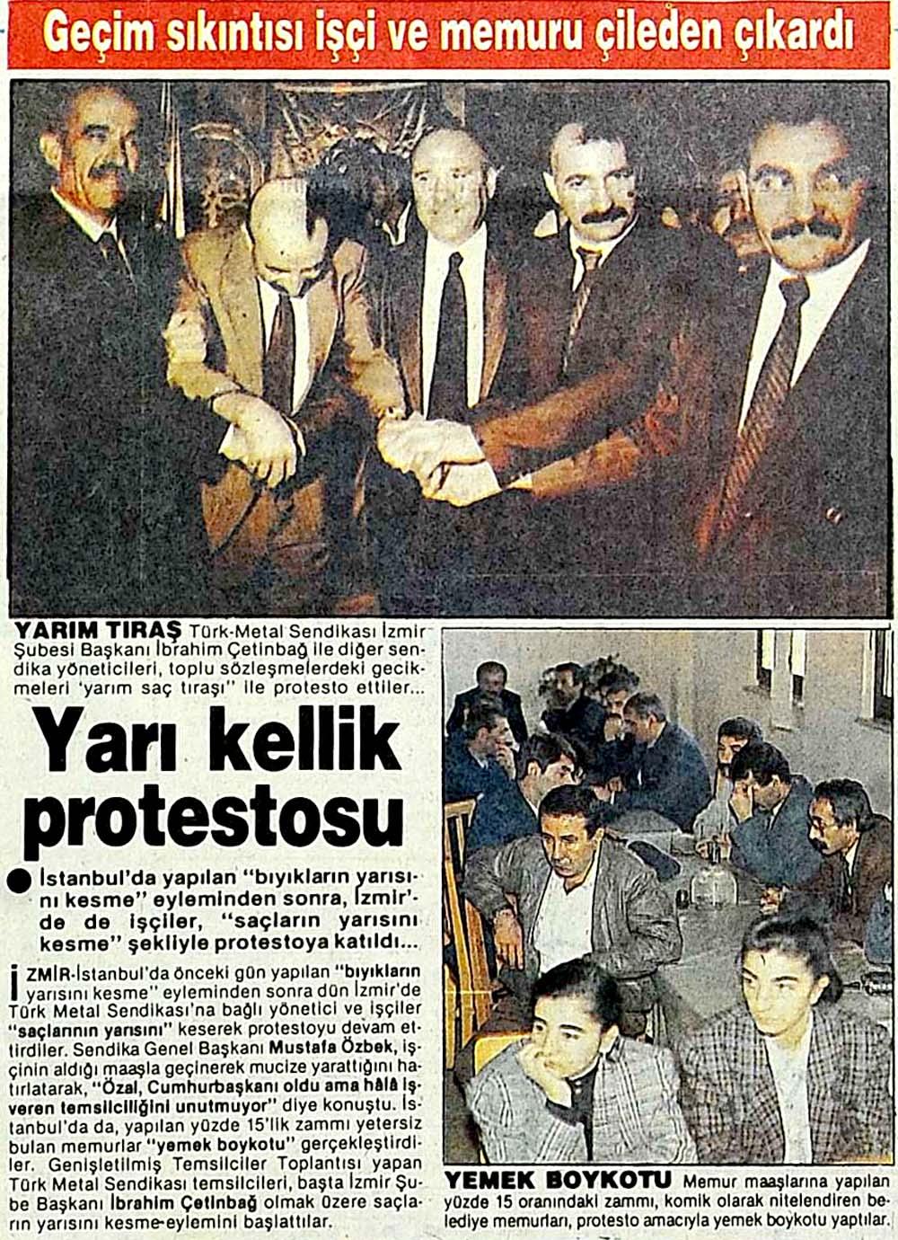Yarı kellik protestosu: Geçim sıkıntısı işçi ve memuru çileden çıkardı