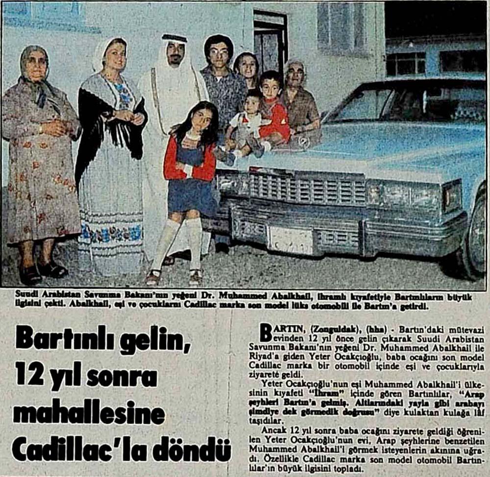 Bartınlı gelin, 12 yıl sonra mahallesine Cadillac'la döndü