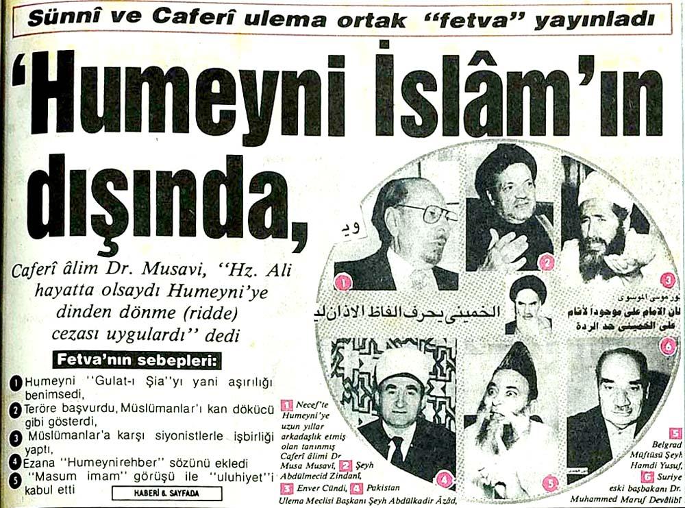 'Humeyni İslam'ın dışında'