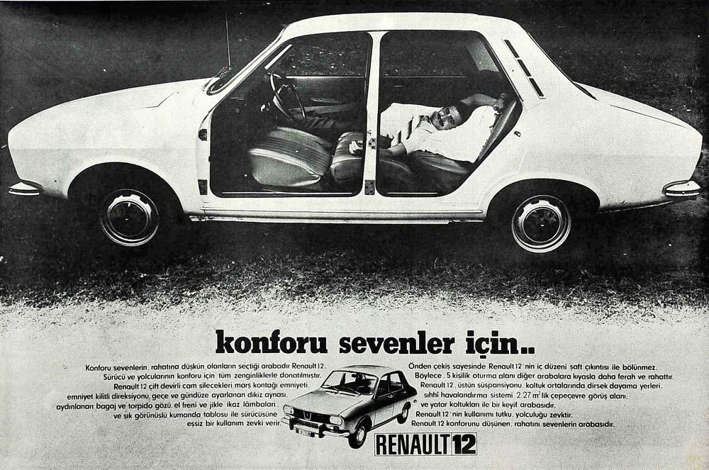 Konforu sevenler için..Renault 12
