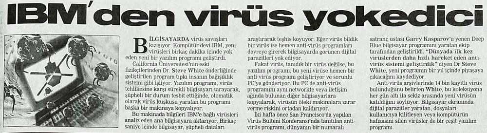 IBM'den virüs yokedici