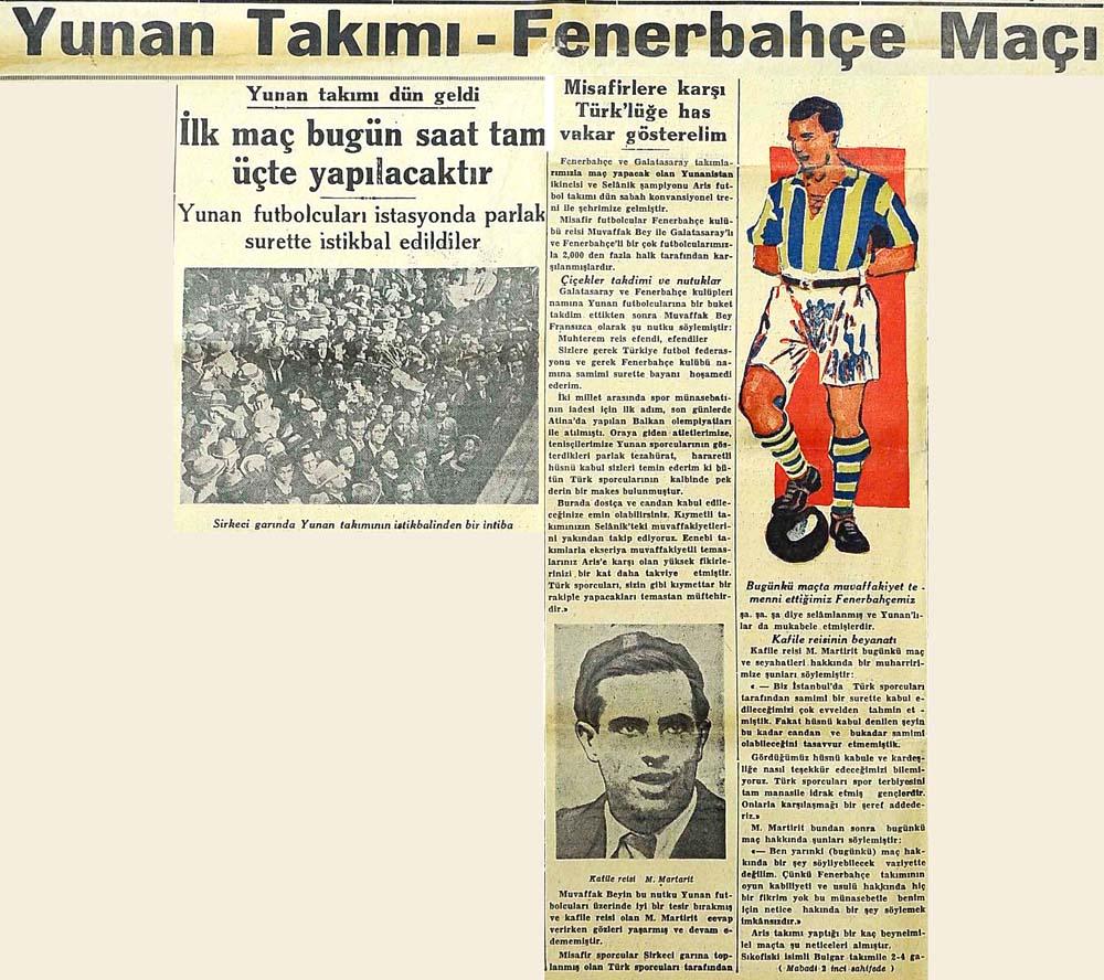 Yunan Takımı-Fenerbahçe Maçı