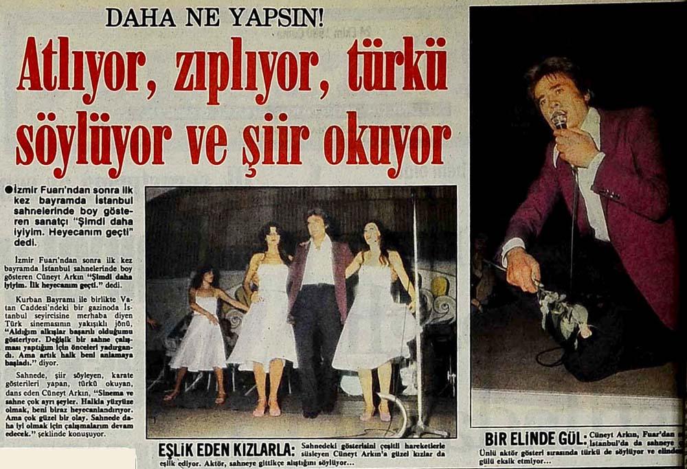Atlıyor, zıplıyor, türkü söylüyor ve şiir okuyor. Daha ne yapsın!