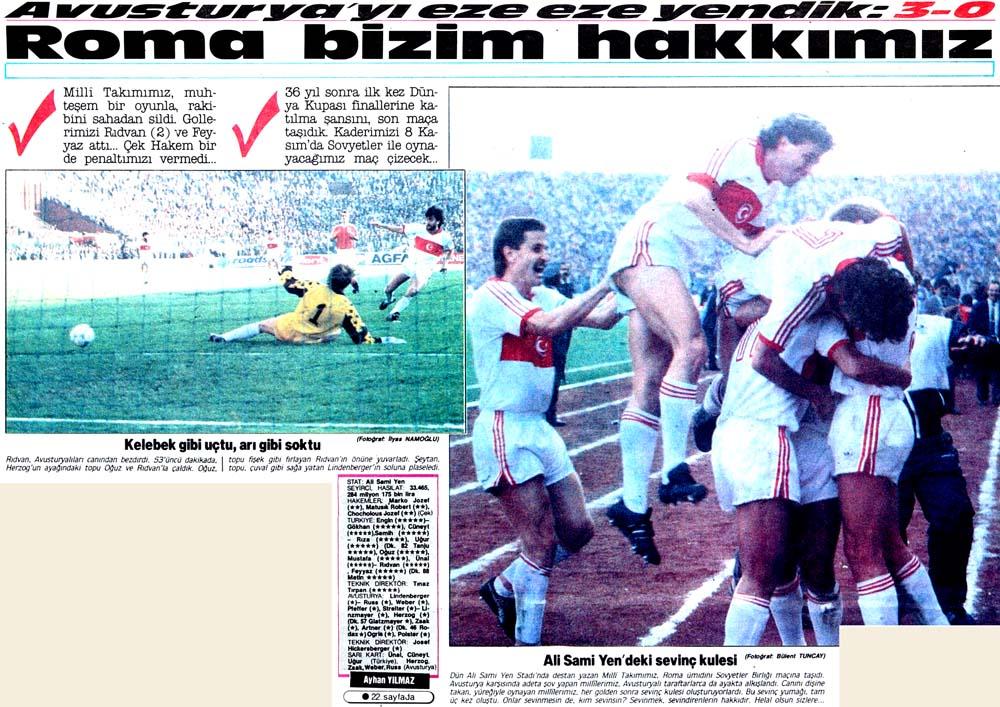 Avusturya'yı eze eze yendik: 3-0 Roma bizim hakkımız