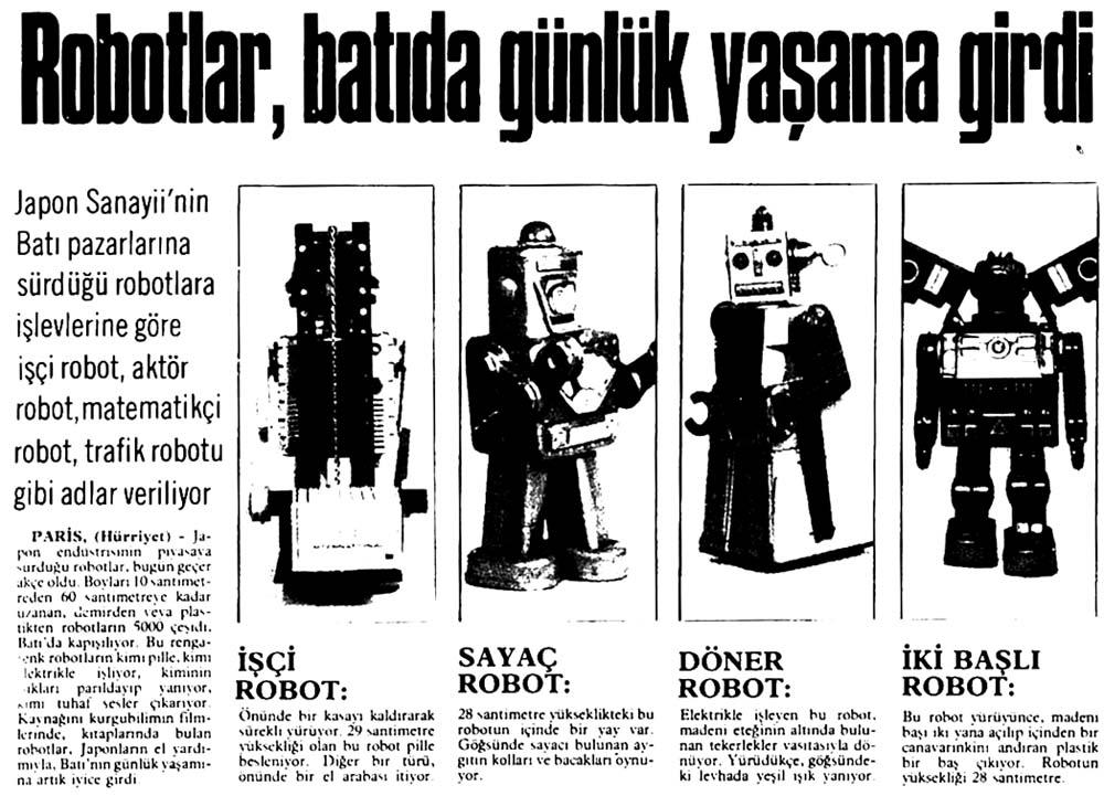 Robotlar, batıda günlük yaşama girdi
