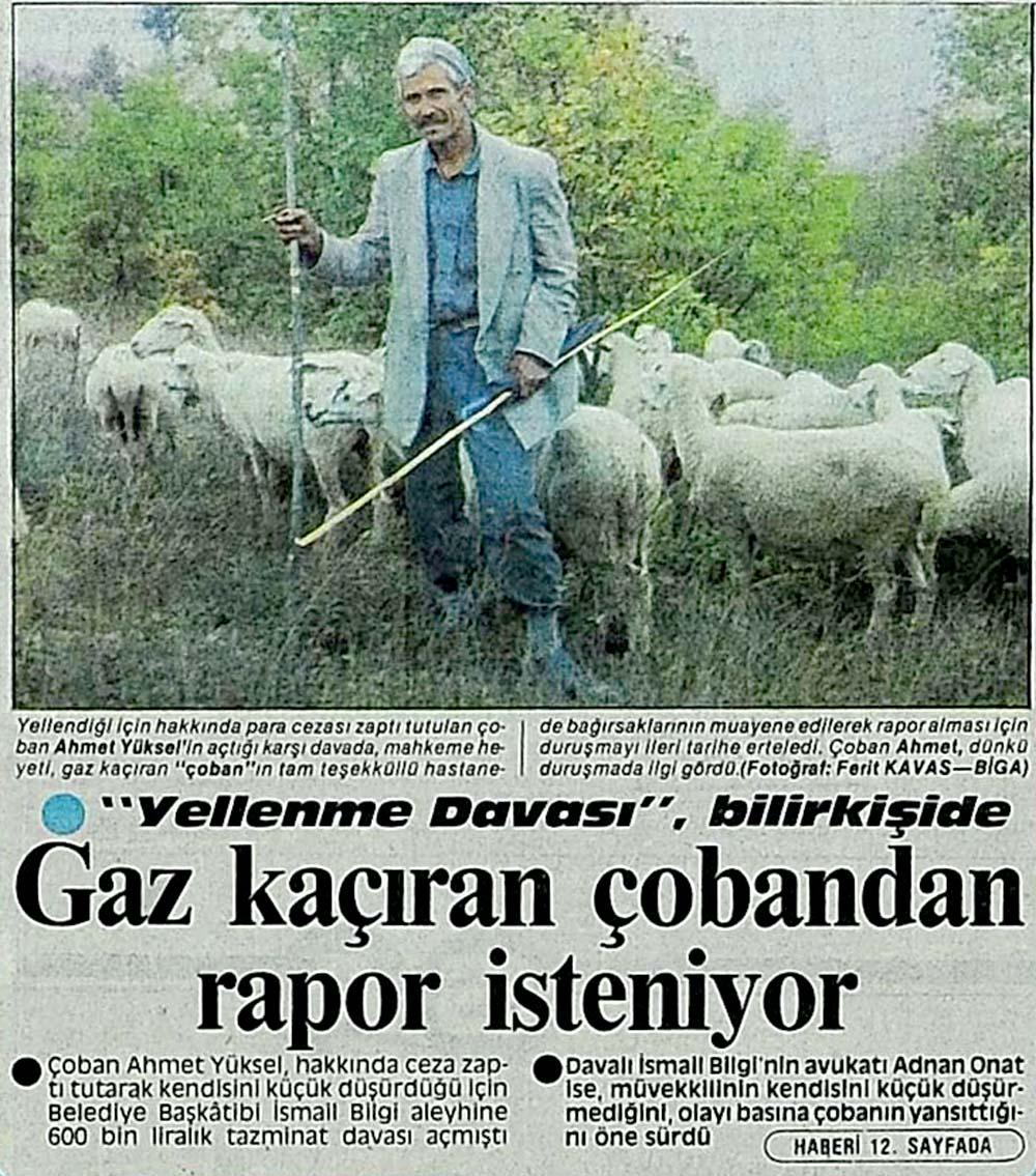 Gaz kaçıran çobandan rapor isteniyor