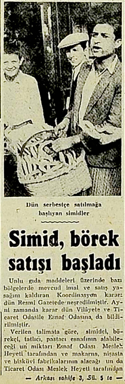 Simid, börek satışı başladı