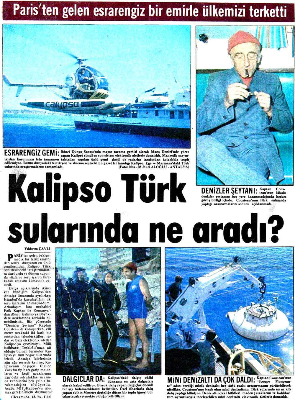 Kalipso Türk sularında ne aradı?
