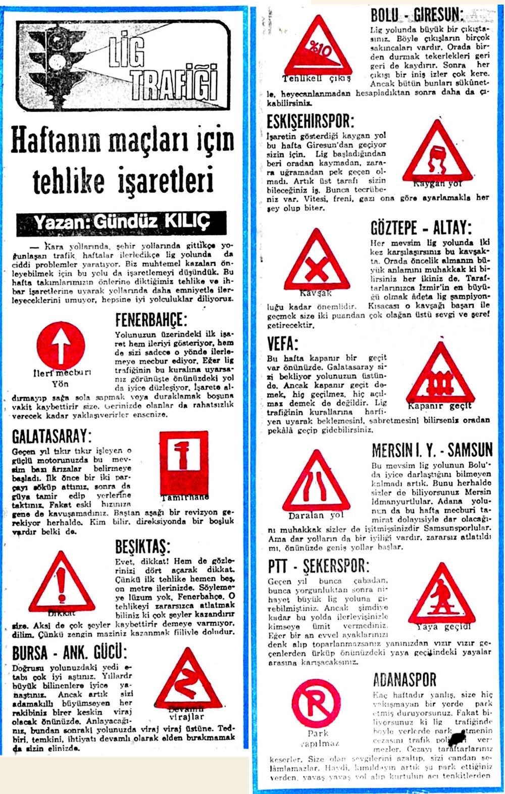Haftanın maçları için tehlike işaretleri