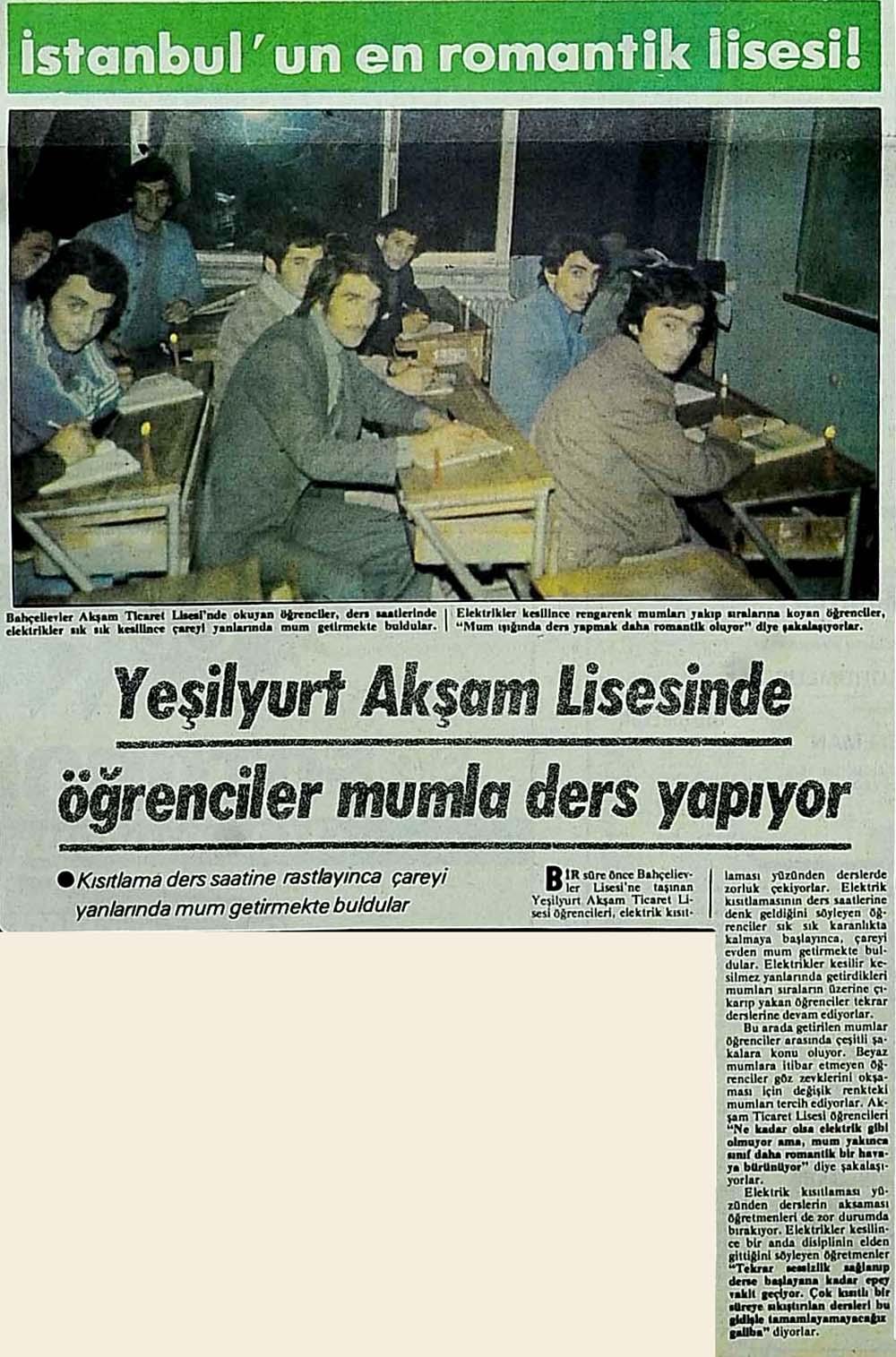 İstanbul'un en romantik lisesi!