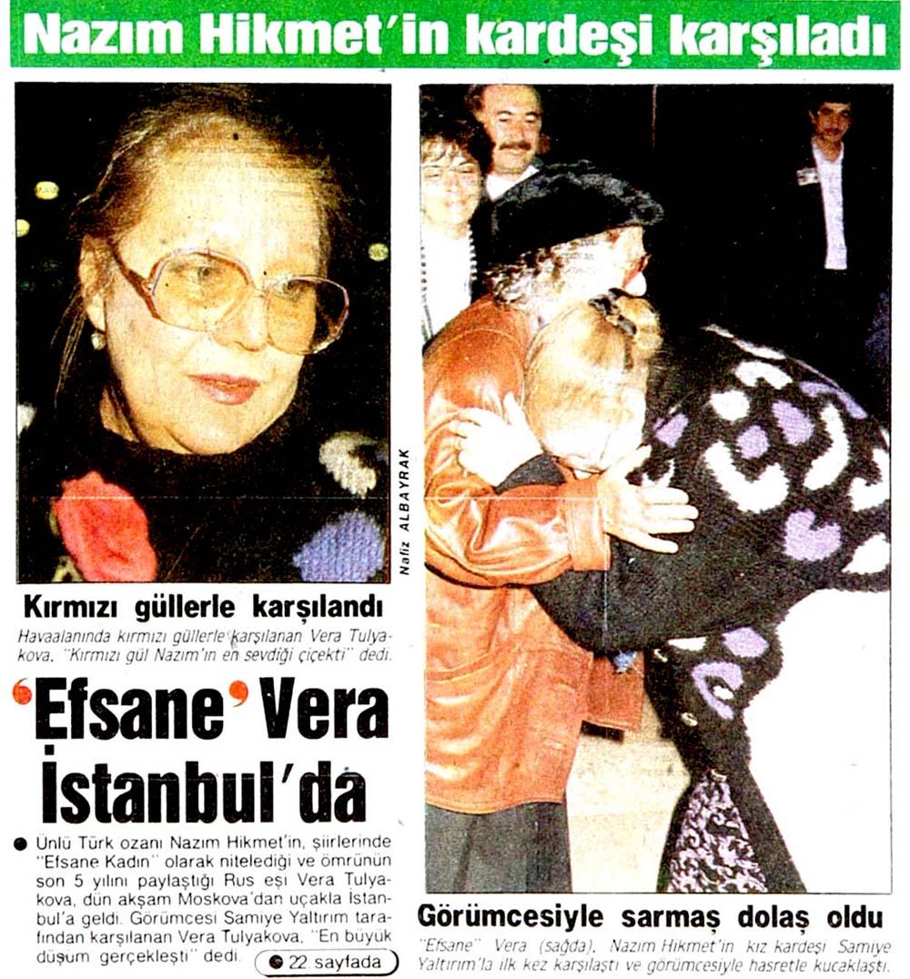'Efsane' Vera İstanbulda