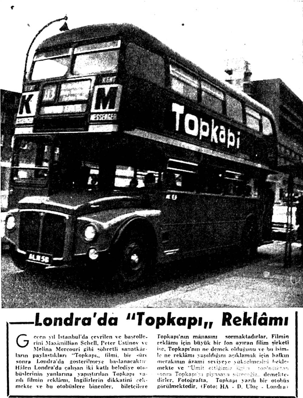 Londra'da ''Topkapı'' Reklamı