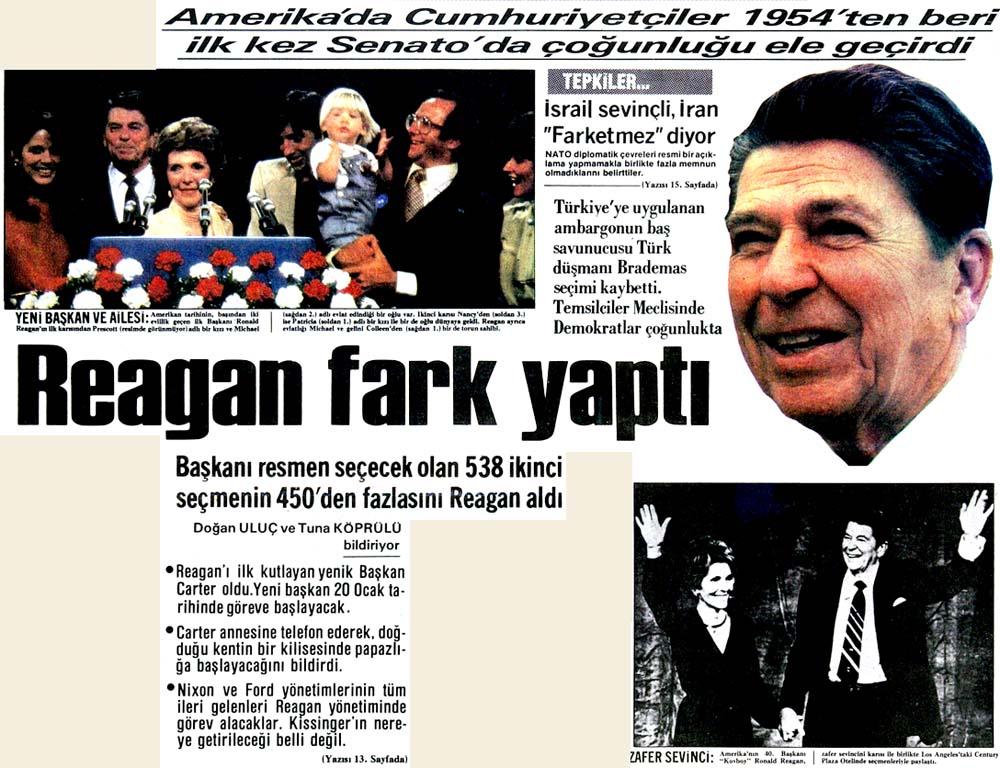 Reagan fark yaptı