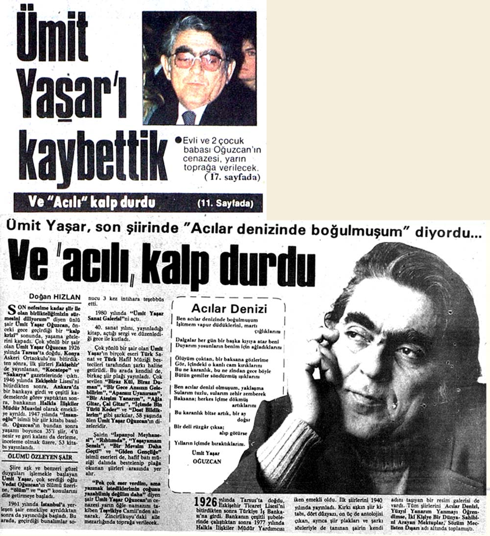 Ümit Yaşar'ı kaybettik