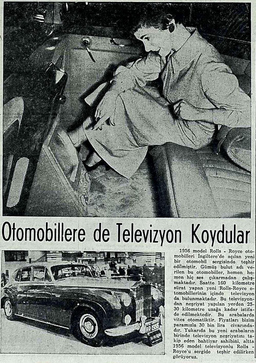 Otomobillere de Televizyon Koydular