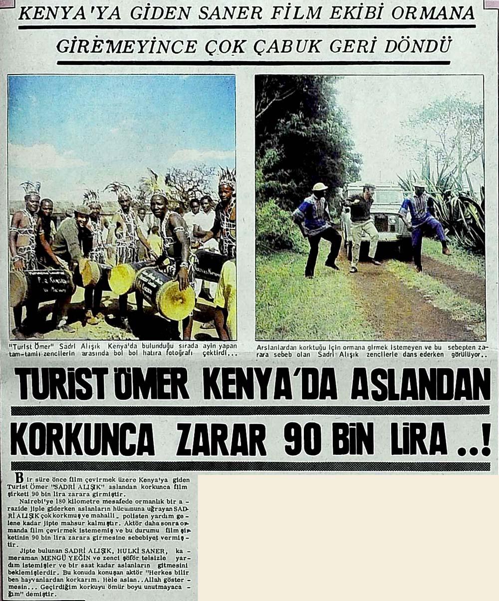 Turist Ömer Kenya'da aslandan korkunca zarar 90 bin lira..!