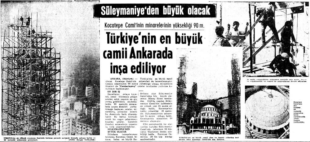 Türkiye'nin en büyük camii Ankarada inşa ediliyor