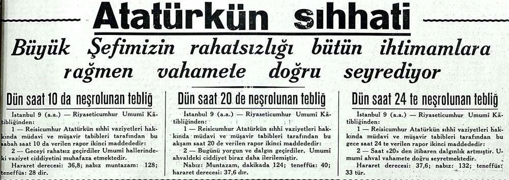 Atatürkün sıhhati