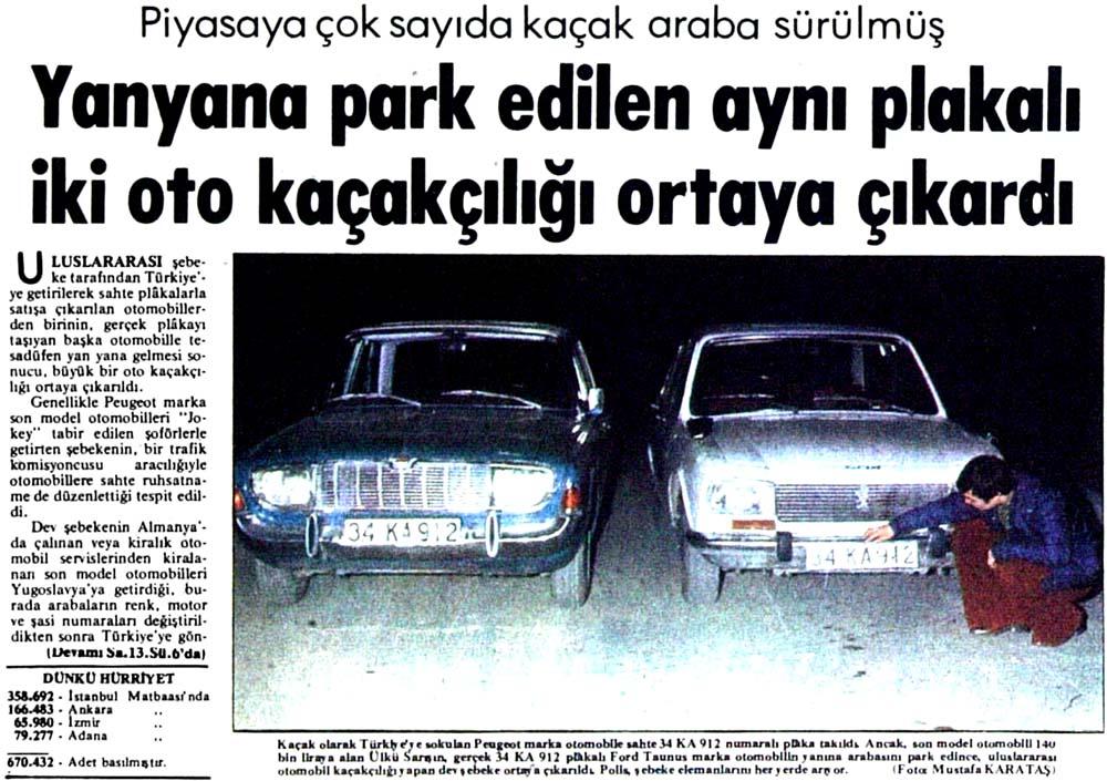 Yanyana park edilen aynı plakalı iki oto kaçakçılığı ortaya çıkardı