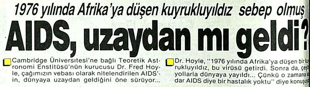 AIDS, uzaydan mı geldi?