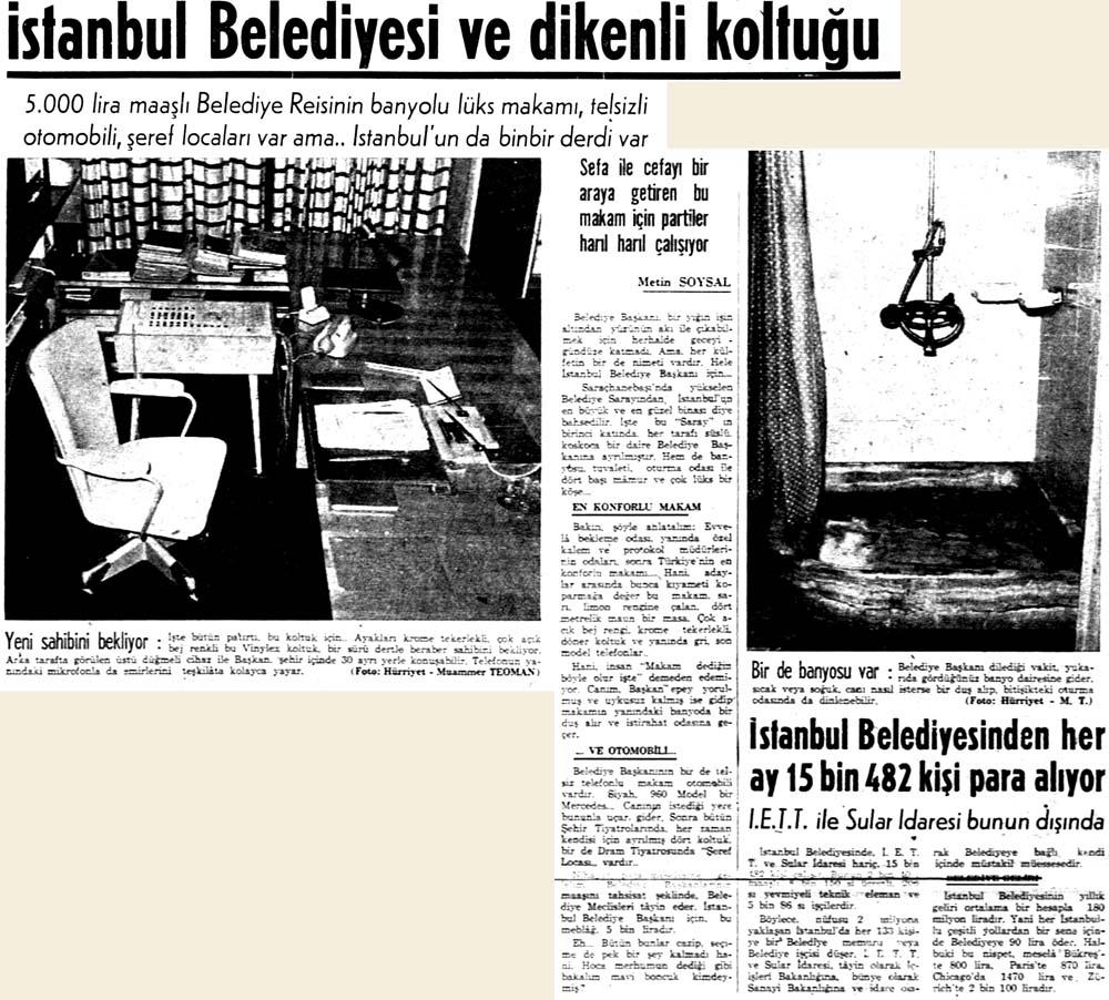İstanbul Belediyesi ve dikenli koltuğu
