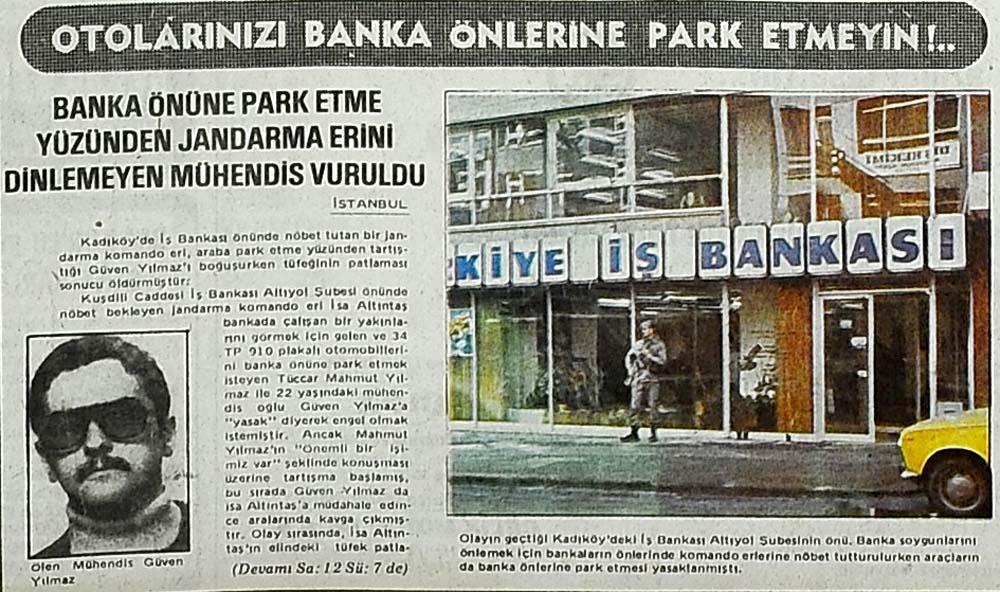 Otolarınızı banka önlerine park etmeyin!..