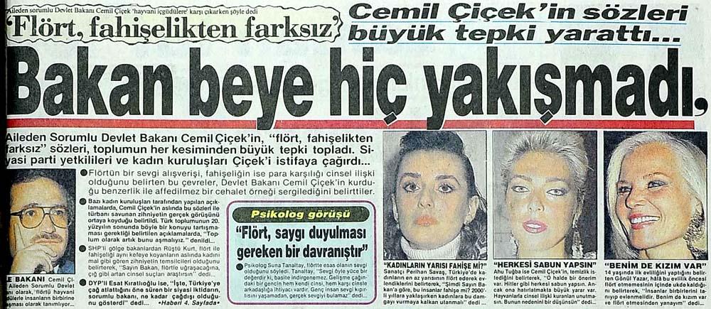 Cemil Çiçek'in 'Flört, fahişelikten farksız' sözleri büyük tepki yarattı