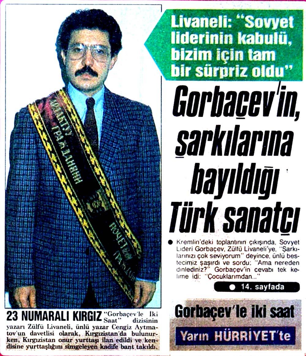Gorbaçev'in sevdiği Türk