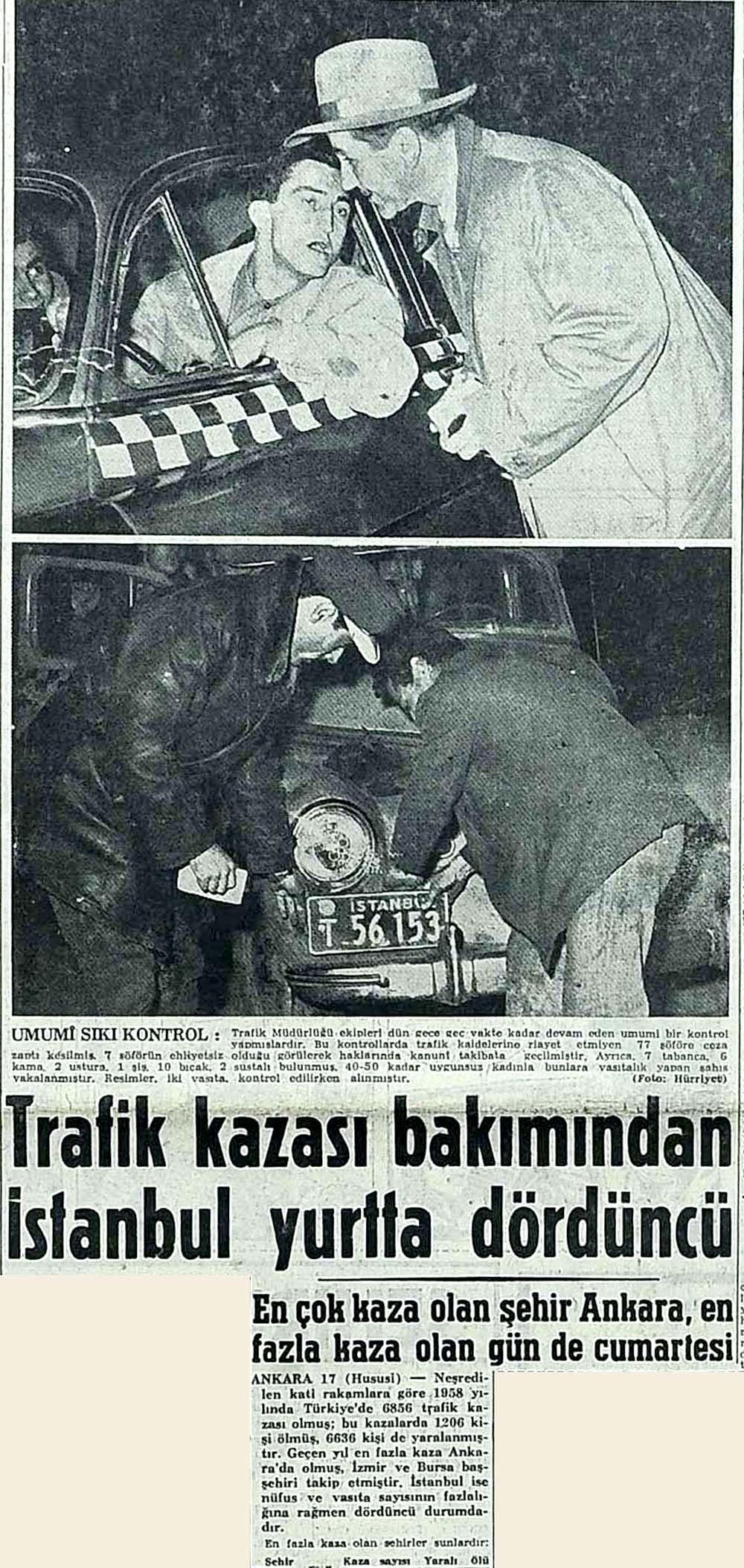 Trafik kazası bakımından İstanbul yurtta dördüncü