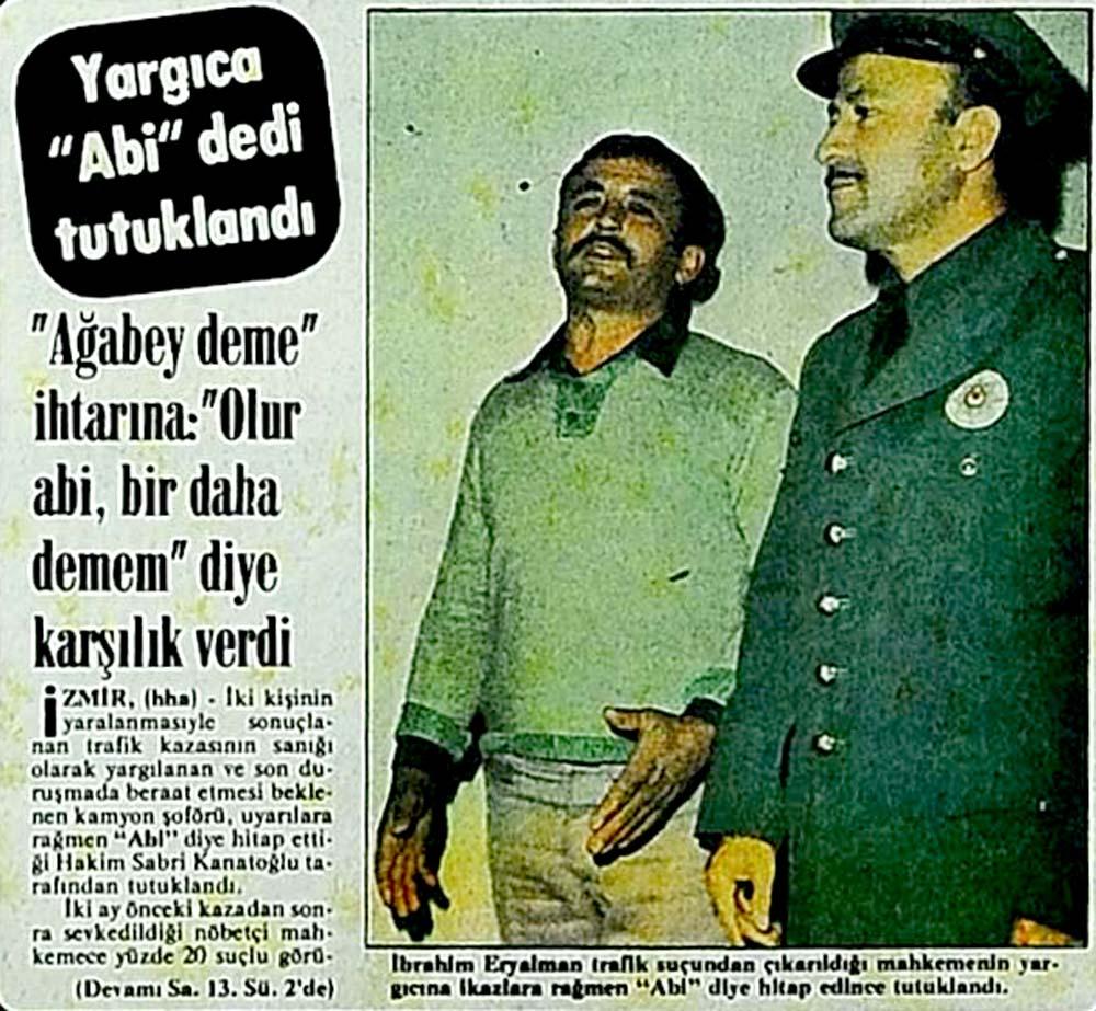Yargıca ''Abi'' dedi tutuklandı