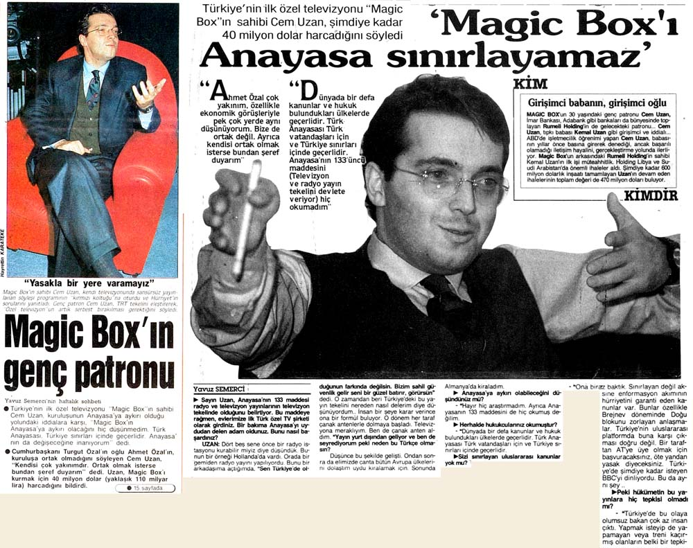 Magic Box'ın genç patronu