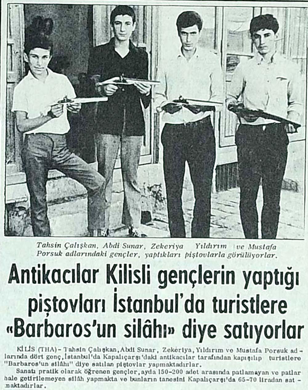 Antikacılar piştovları İstanbul'da turistlere ''Barbaros'un silahı'' diye satıyorlar