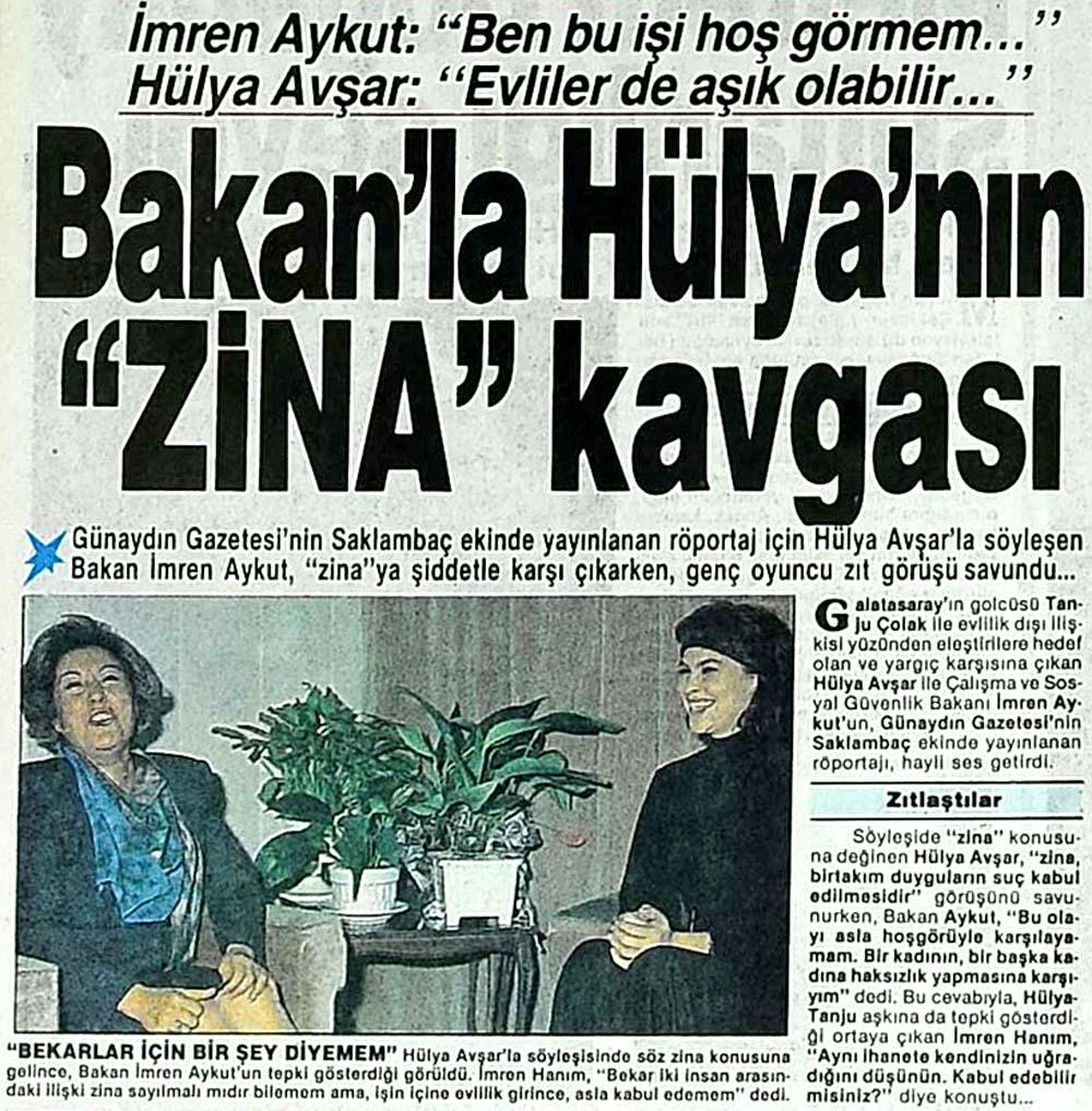 Bakan'la Hülya'nın ''Zina'' kavgası