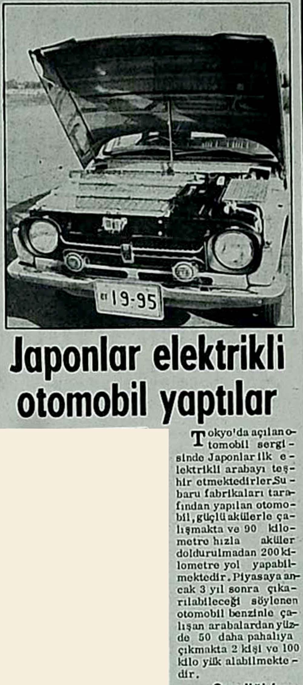 Japonlar elektrikli otomobil yaptılar