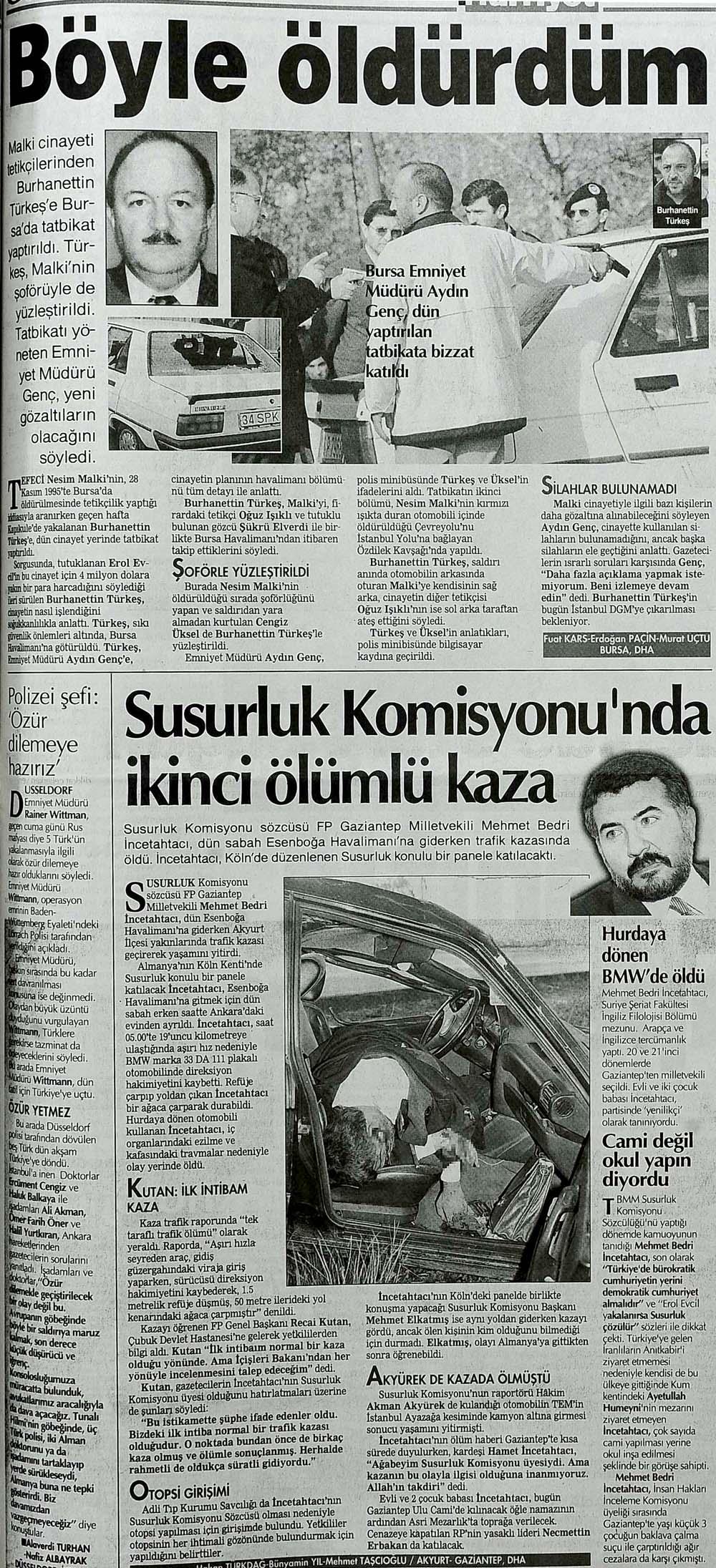 Susurluk Komisyonu Sözcüsü kazada öldü