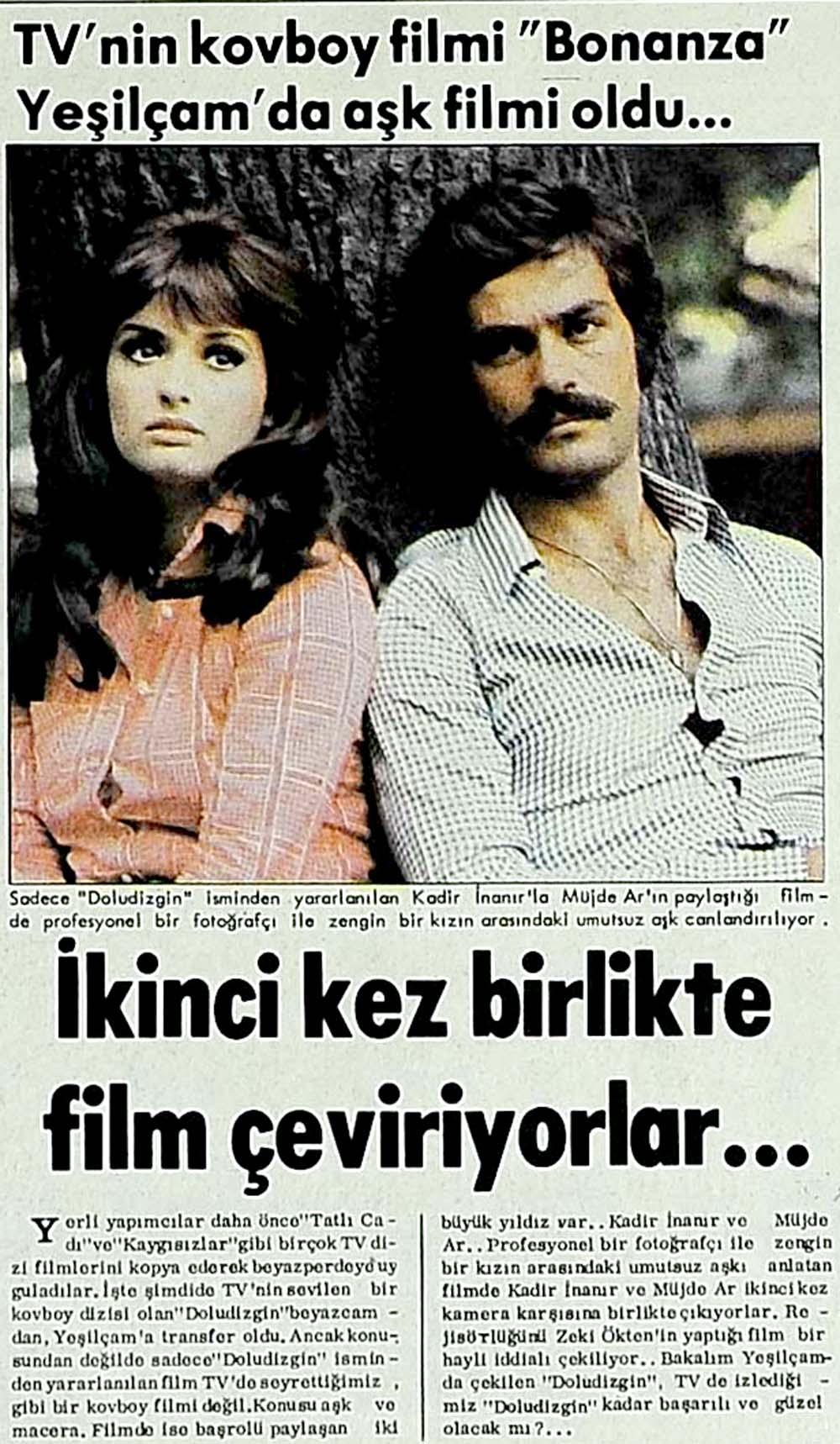 Bonanza aşk filmi oldu...
