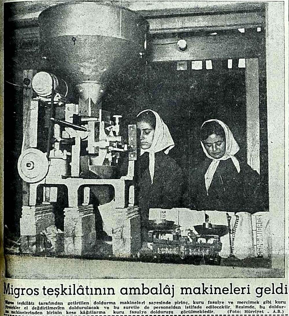 Migros teşkilatının ambalaj makineleri geldi