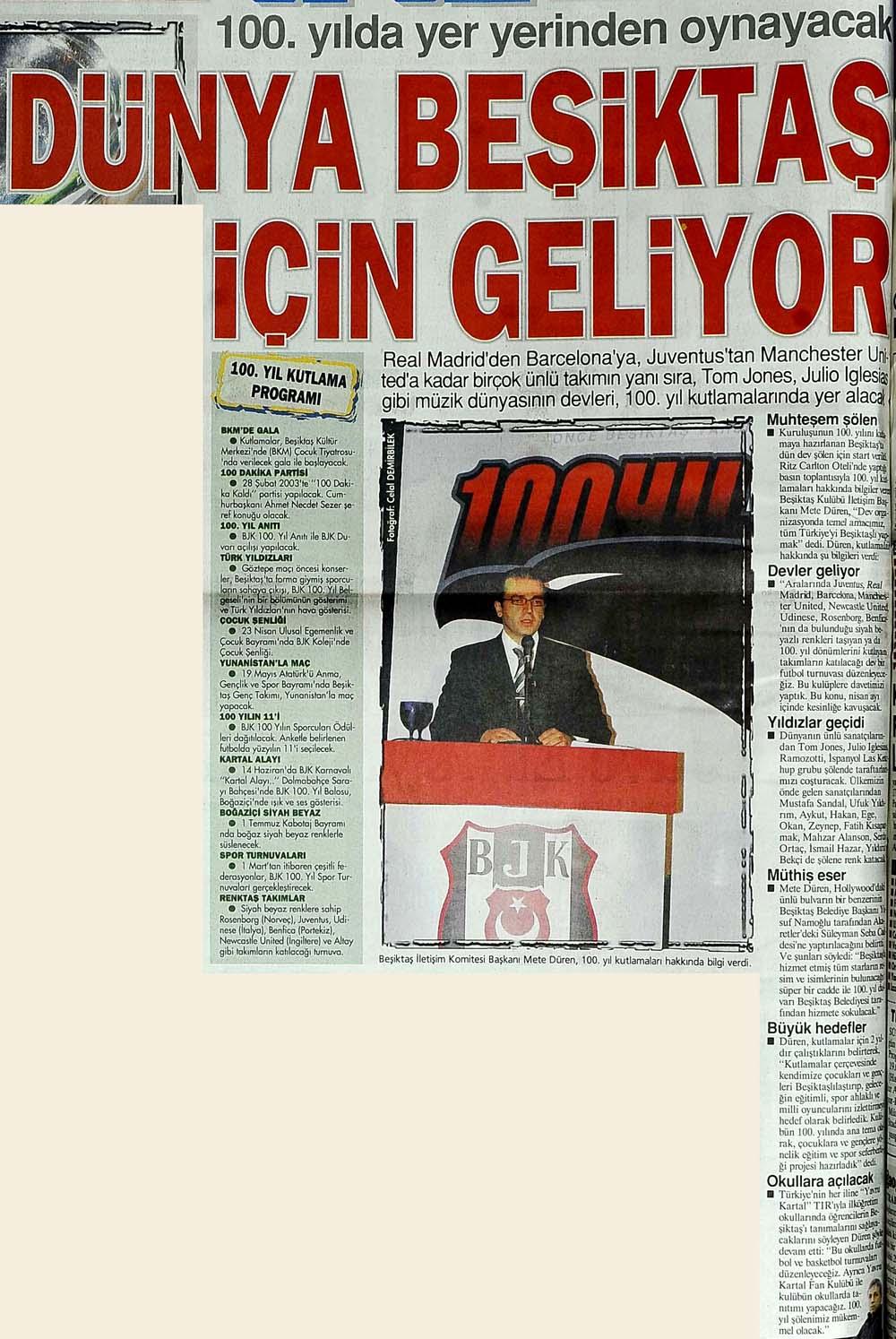 Dünya Beşiktaş için geliyor