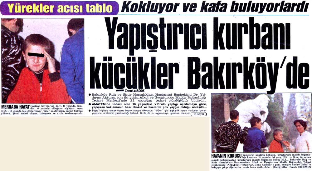 Kokluyor ve kafa buluyorlardı: Yapıştırıcı kurbanı küçükler Bakırköy'de