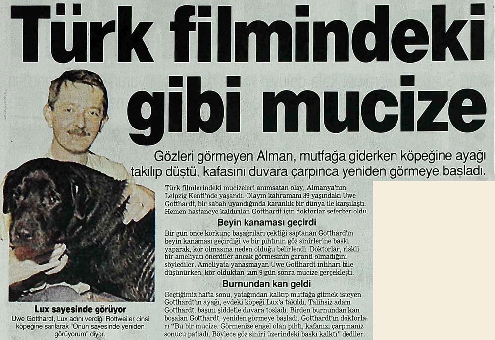 Türk filmlerindeki gibi mucize
