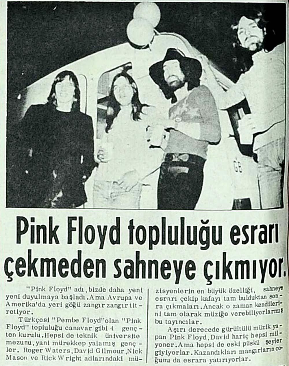 Pink Floyd topluluğu esrarı çekmeden sahneye çıkmıyor