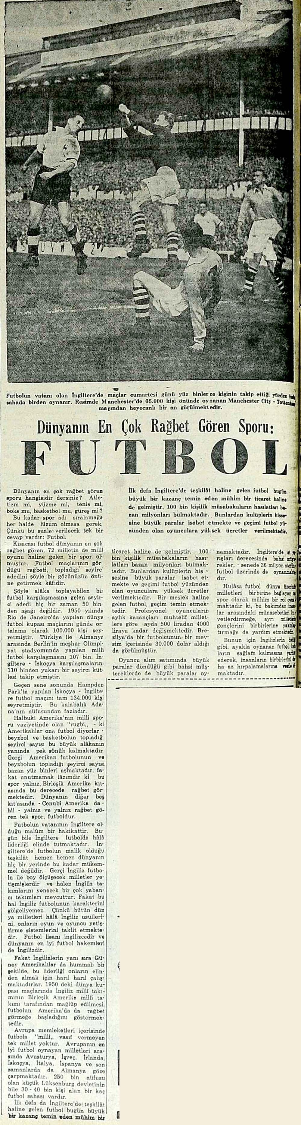 Dünyanın En Çok Rağbet Gören Sporu: Futbol