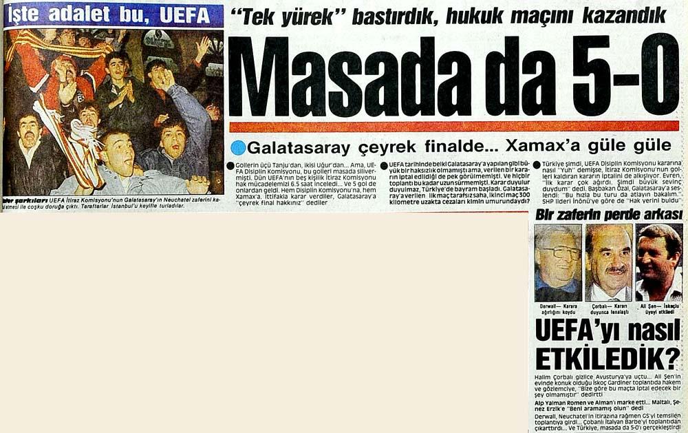 Masada da 5-0 Galatasaray çeyrek finalde...Xamax'a güle güle
