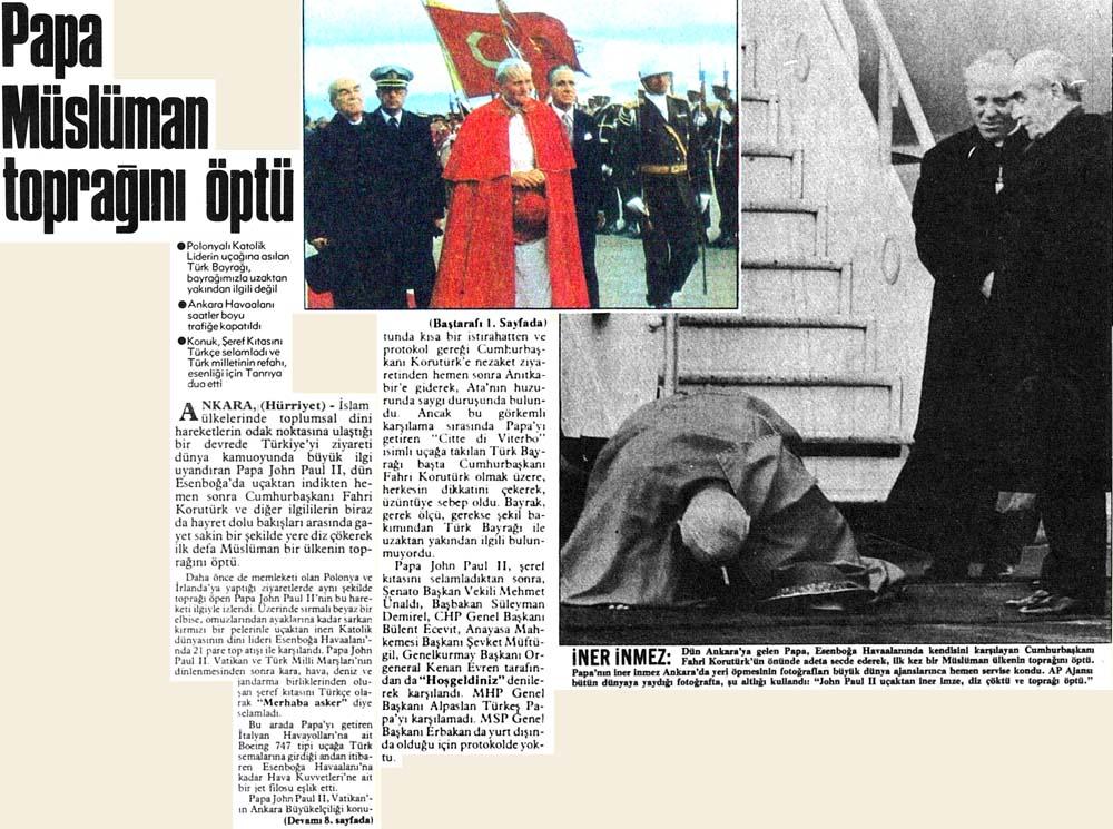 Papa Müslüman toprağını öptü