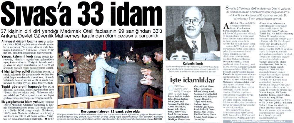 Sivas'a 33 idam