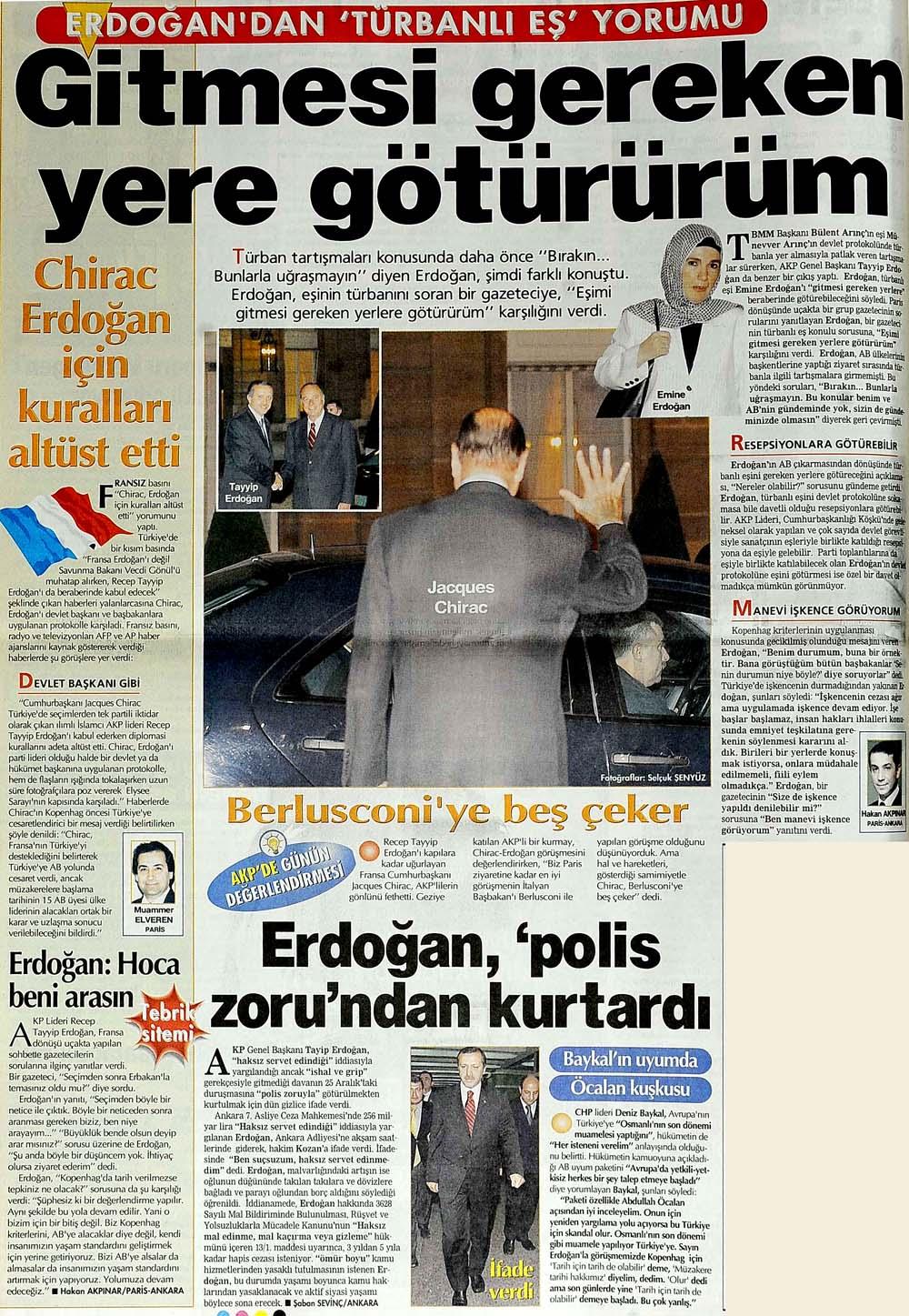 Erdoğan'dan 'Türbanlı Eş' yorumu: Gitmesi gereken yere götürürüm