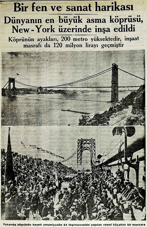 Dünyanın en büyük asma köprüsü, New-York üzerinde inşa edildi